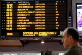 sciopero Trenord milano