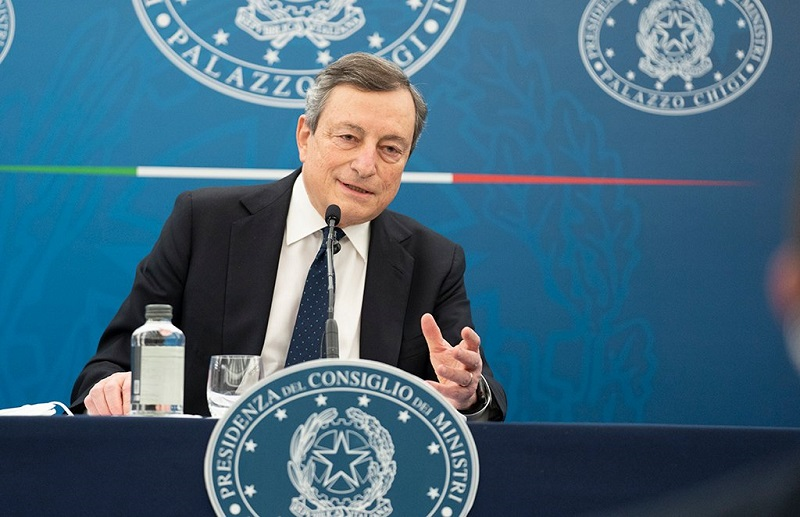 conferenza stampa draghi